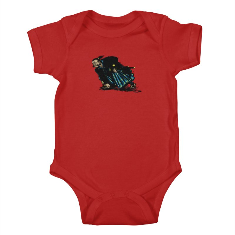 Oni Kids Baby Bodysuit by Dwayne Clare's Artist Shop