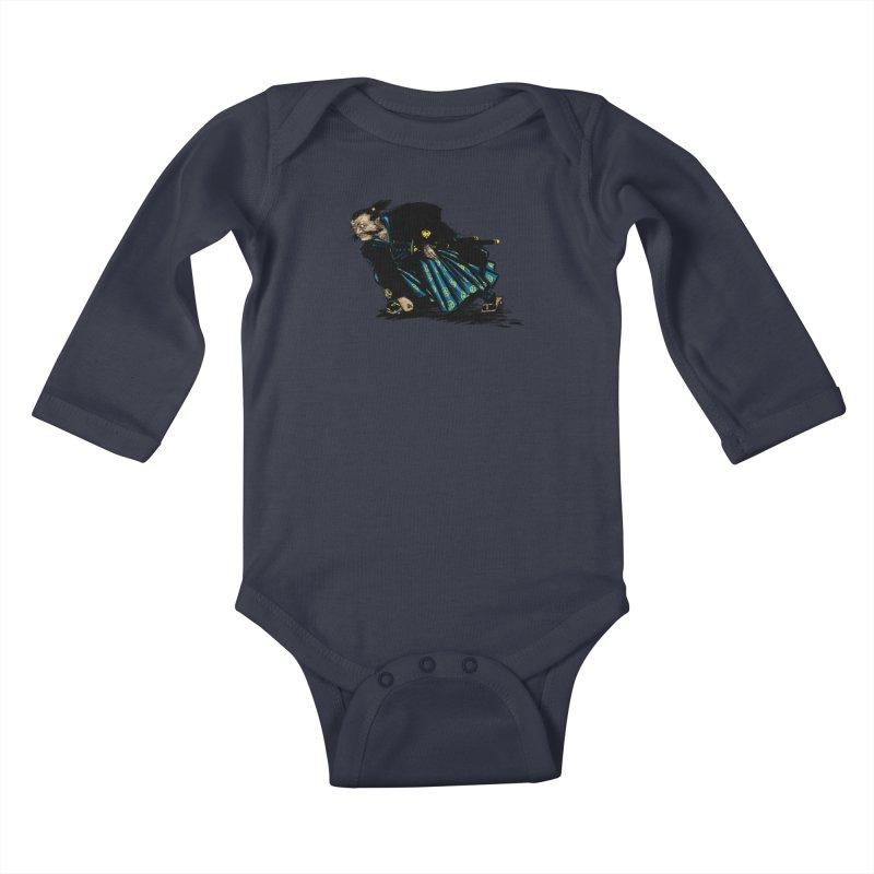 Oni Kids Baby Longsleeve Bodysuit by Dwayne Clare's Artist Shop