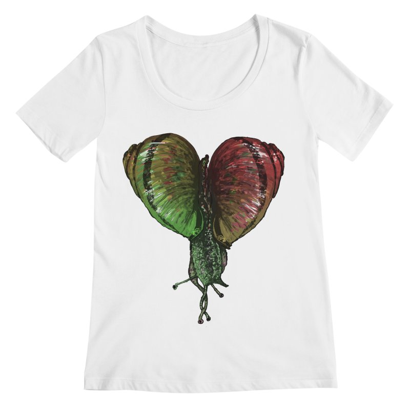 Turbo Love Women's Regular Scoop Neck by Dwayne Clare's Artist Shop