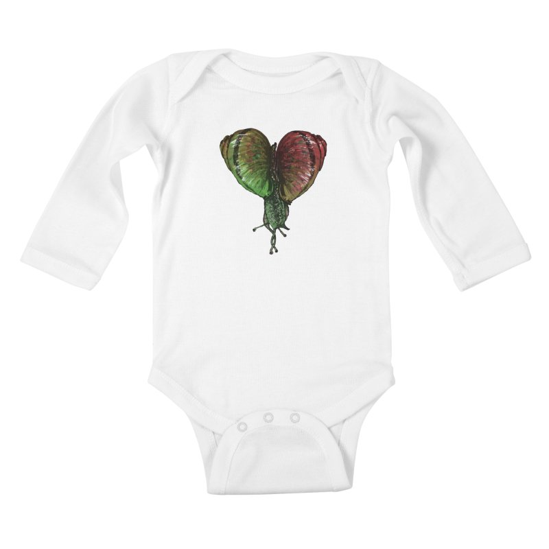 Turbo Love Kids Baby Longsleeve Bodysuit by Dwayne Clare's Artist Shop