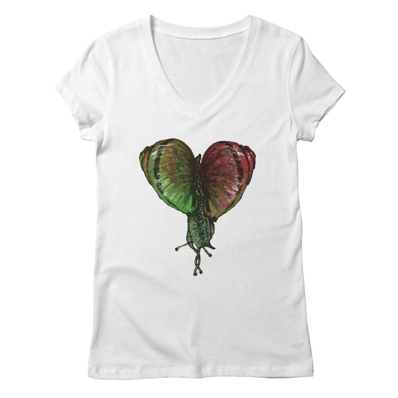 Turbo Love Women's V-Neck by Dwayne Clare's Artist Shop