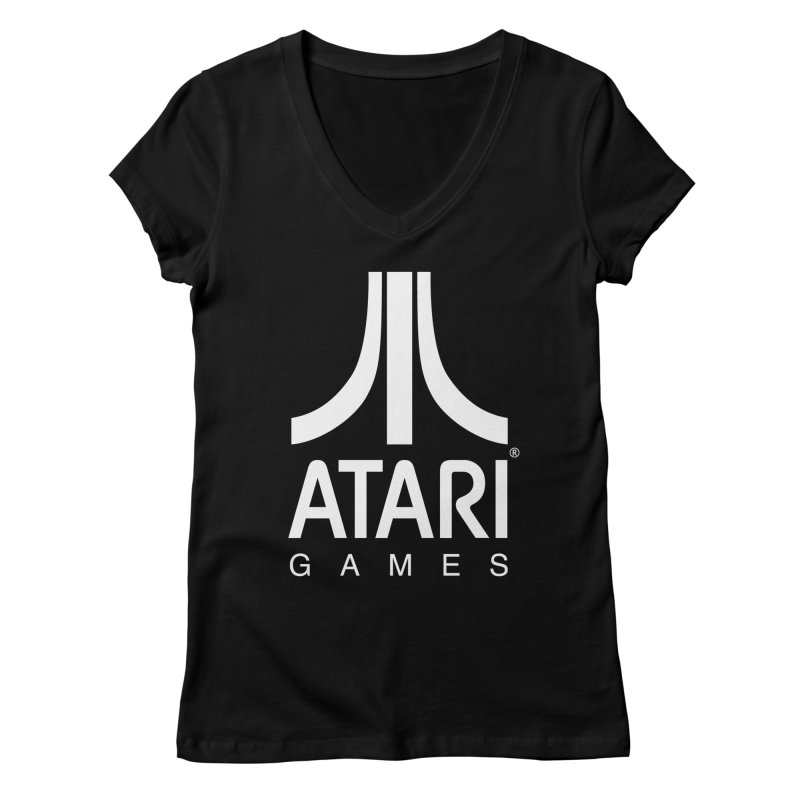 atari-test Women's Regular V-Neck by Dwayne Clare's Artist Shop