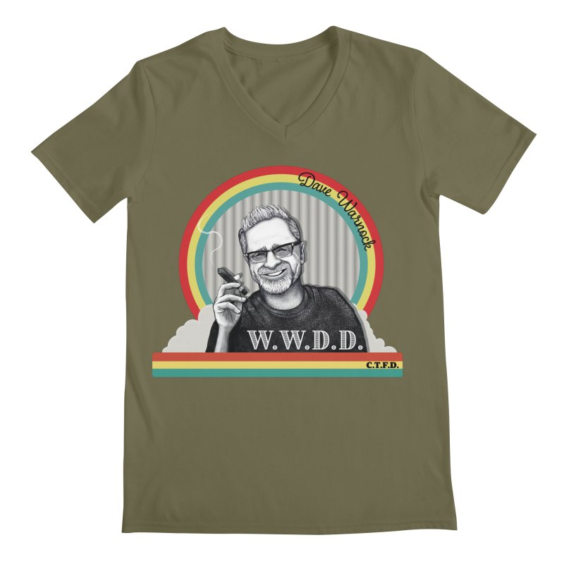 WWDD (What Would Dave Do?) Men's Regular V-Neck by Dying Out Loud Swag