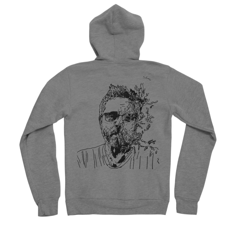Life, Death, & Cigars (no text) Men's Sponge Fleece Zip-Up Hoody by Dying Out Loud Swag