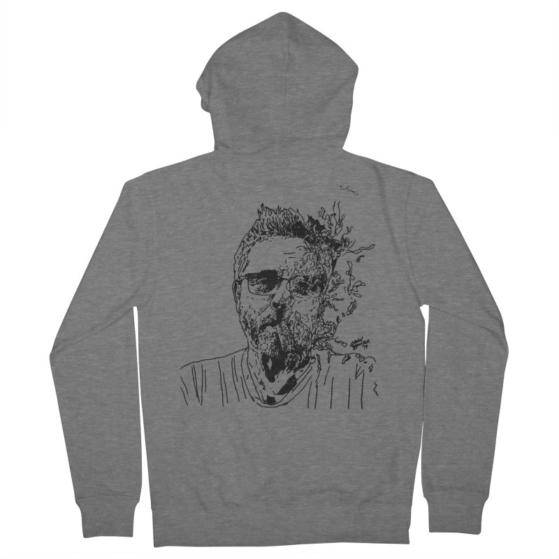 Life, Death, & Cigars (no text) Men's French Terry Zip-Up Hoody by Dying Out Loud Swag
