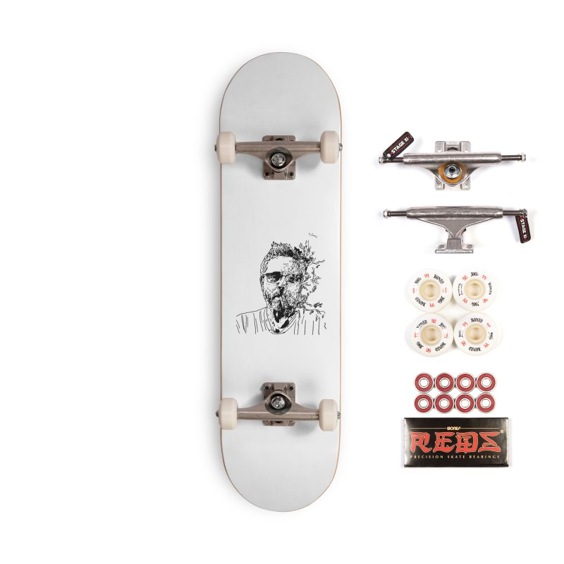 Life, Death, & Cigars (no text) Accessories Complete - Pro Skateboard by Dying Out Loud Swag