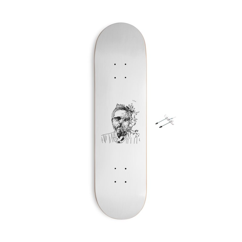 Life, Death, & Cigars (no text) Accessories With Hanging Hardware Skateboard by Dying Out Loud Swag