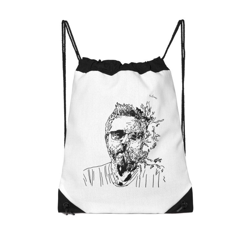 Life, Death, & Cigars (no text) Accessories Drawstring Bag Bag by Dying Out Loud Swag
