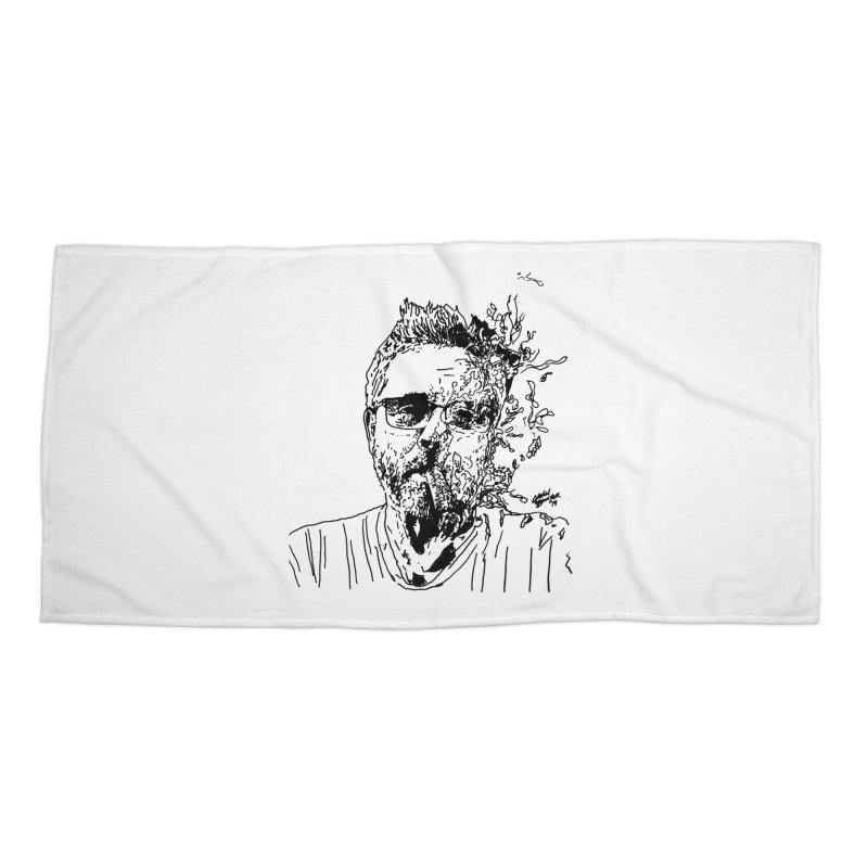 Life, Death, & Cigars (no text) Accessories Beach Towel by Dying Out Loud Swag