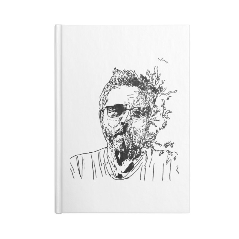 Life, Death, & Cigars (no text) Accessories Lined Journal Notebook by Dying Out Loud Swag