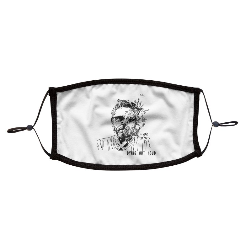 Life, Death & Cigars (DOL Text) Accessories Face Mask by Dying Out Loud Swag