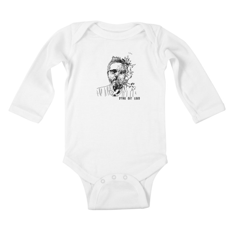 Life, Death & Cigars (Text) Kids Baby Longsleeve Bodysuit by Dying Out Loud Swag