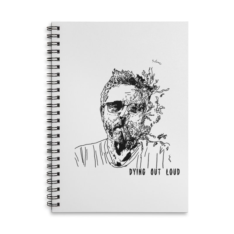Life, Death & Cigars (Text) Accessories Lined Spiral Notebook by Dying Out Loud Swag