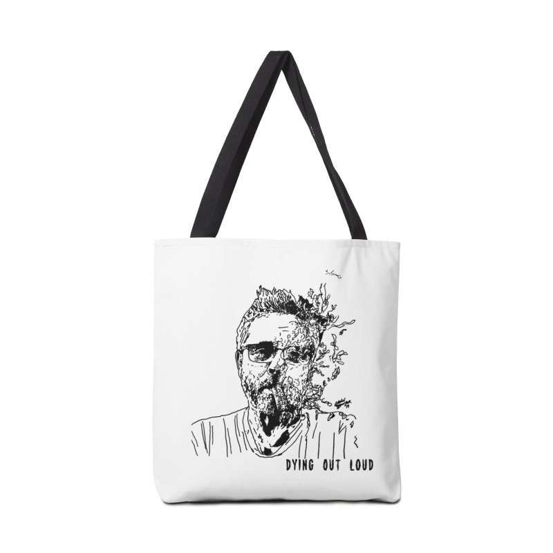 Life, Death & Cigars (Text) Accessories Tote Bag Bag by Dying Out Loud Swag