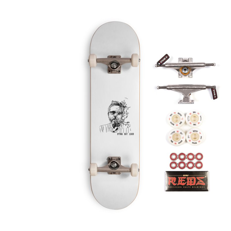 Life, Death & Cigars (Text) Accessories Complete - Pro Skateboard by Dying Out Loud Swag