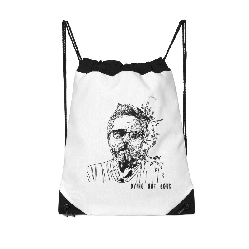 Life, Death & Cigars (Text) Accessories Drawstring Bag Bag by Dying Out Loud Swag