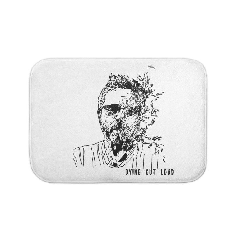 Life, Death & Cigars (Text) Home Bath Mat by Dying Out Loud Swag