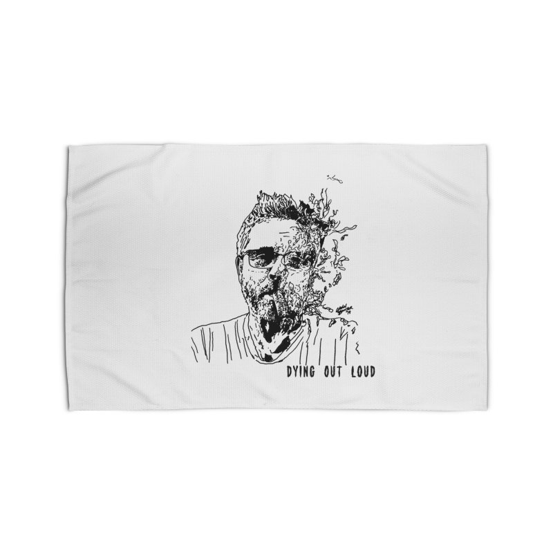 Life, Death & Cigars (Text) Home Rug by Dying Out Loud Swag
