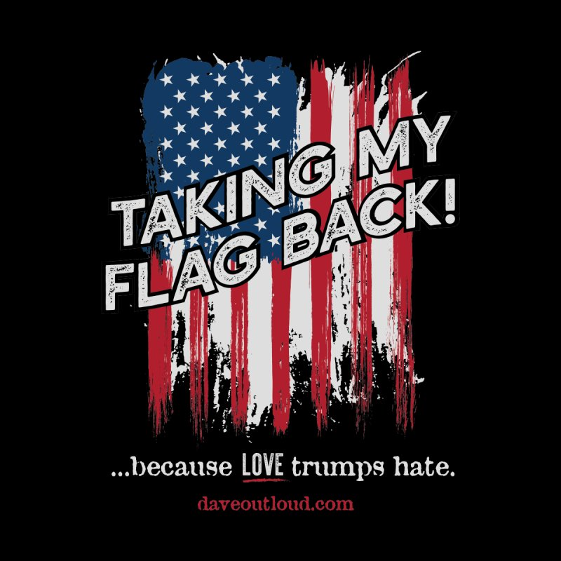Taking My Flag Back Home Mounted Aluminum Print by Dying Out Loud Swag