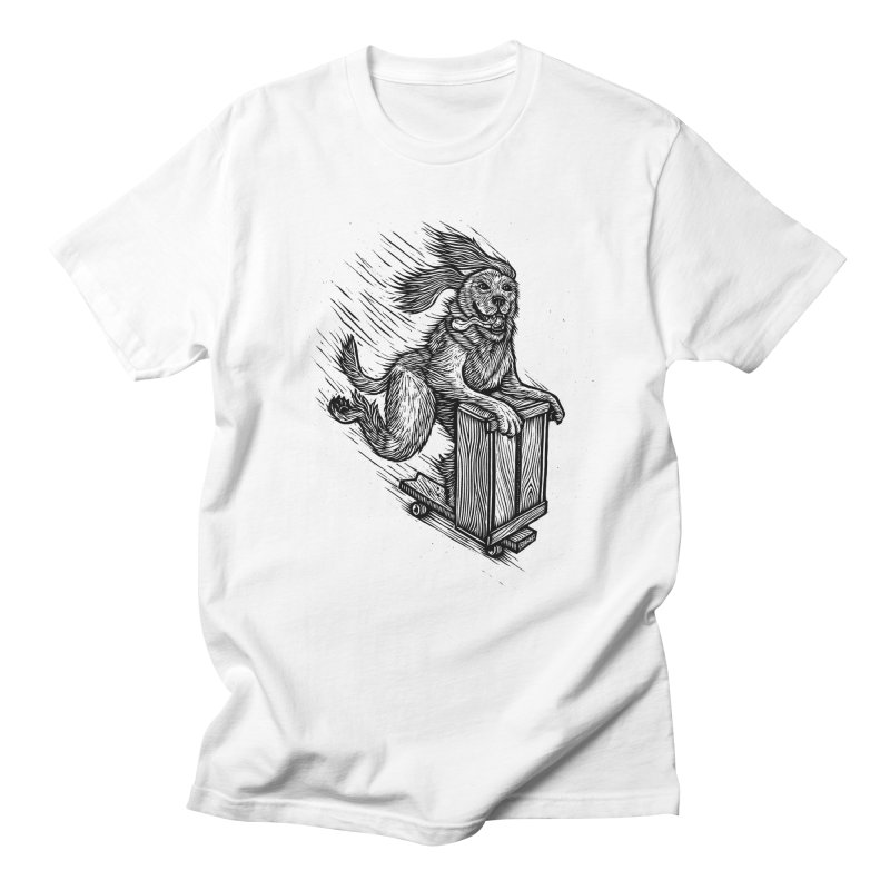 First Skate Dog in Men's T-Shirt White by Dylan Goldberger's Shop