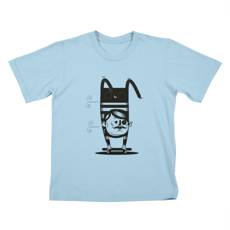 Handstand Kids T-Shirt by skatebored