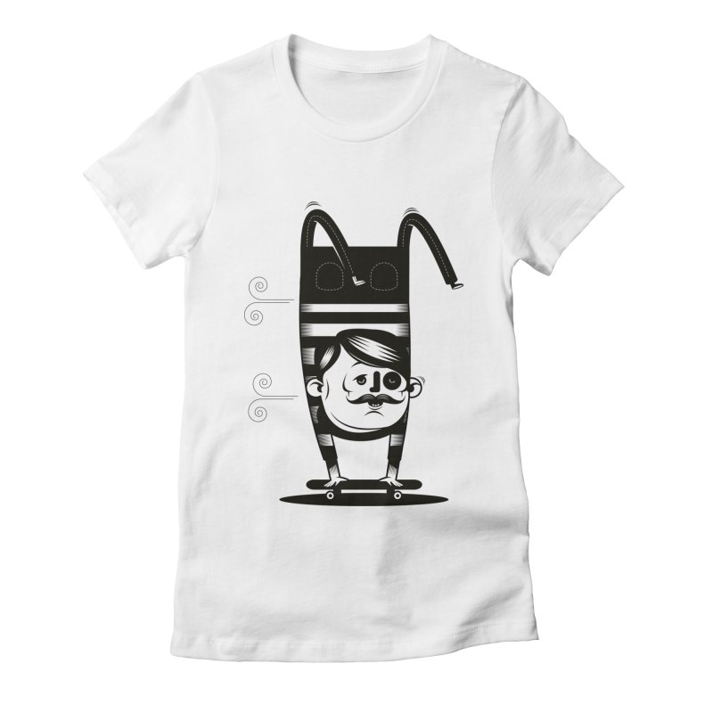 Handstand Women's Fitted T-Shirt by skatebored