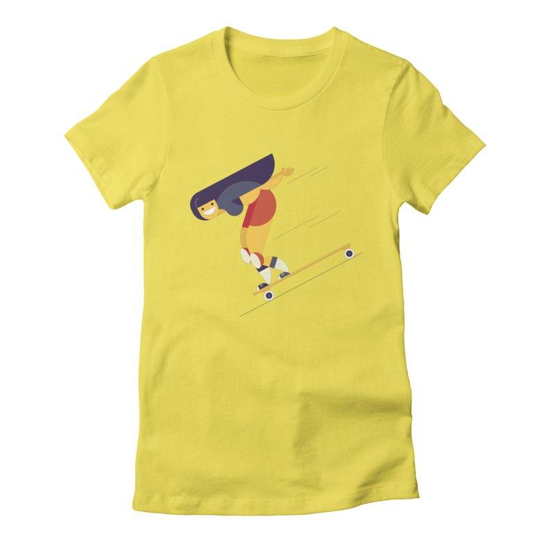 Longboarding Women's Fitted T-Shirt by skatebored