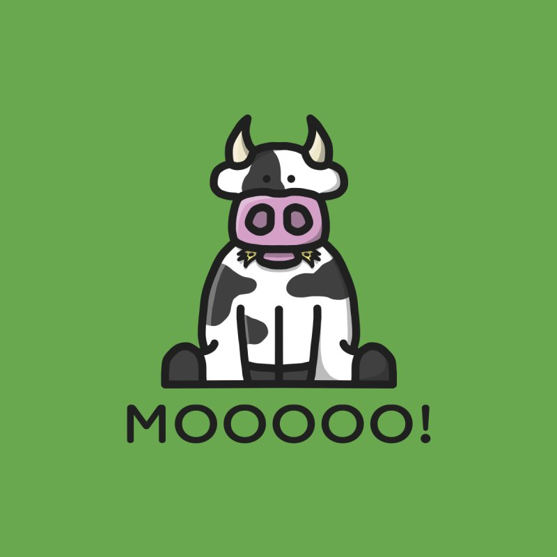 Moooo! Men's Sweatshirt by dylankwok's Artist Shop