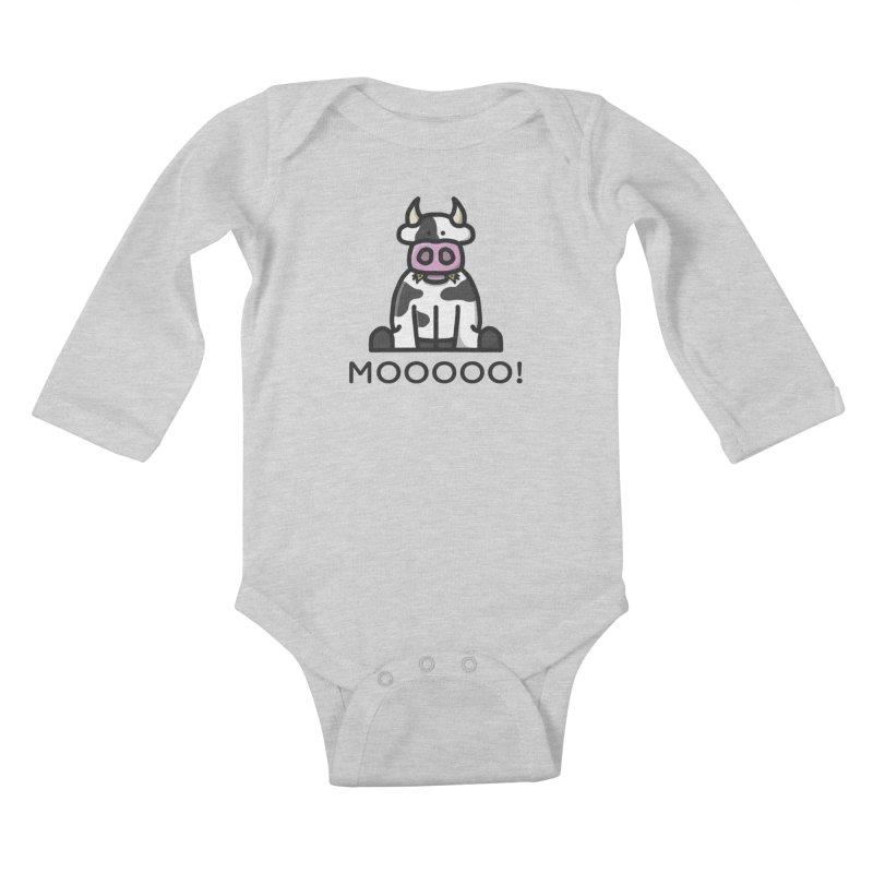 Moooo! Kids Baby Longsleeve Bodysuit by dylankwok's Artist Shop