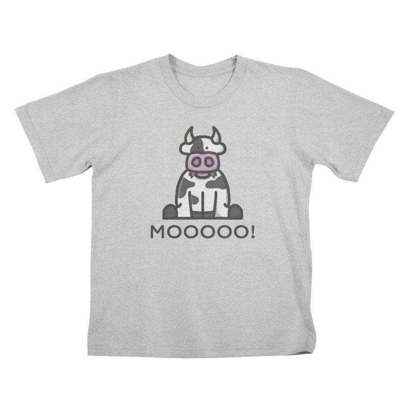 Moooo! Kids T-Shirt by dylankwok's Artist Shop