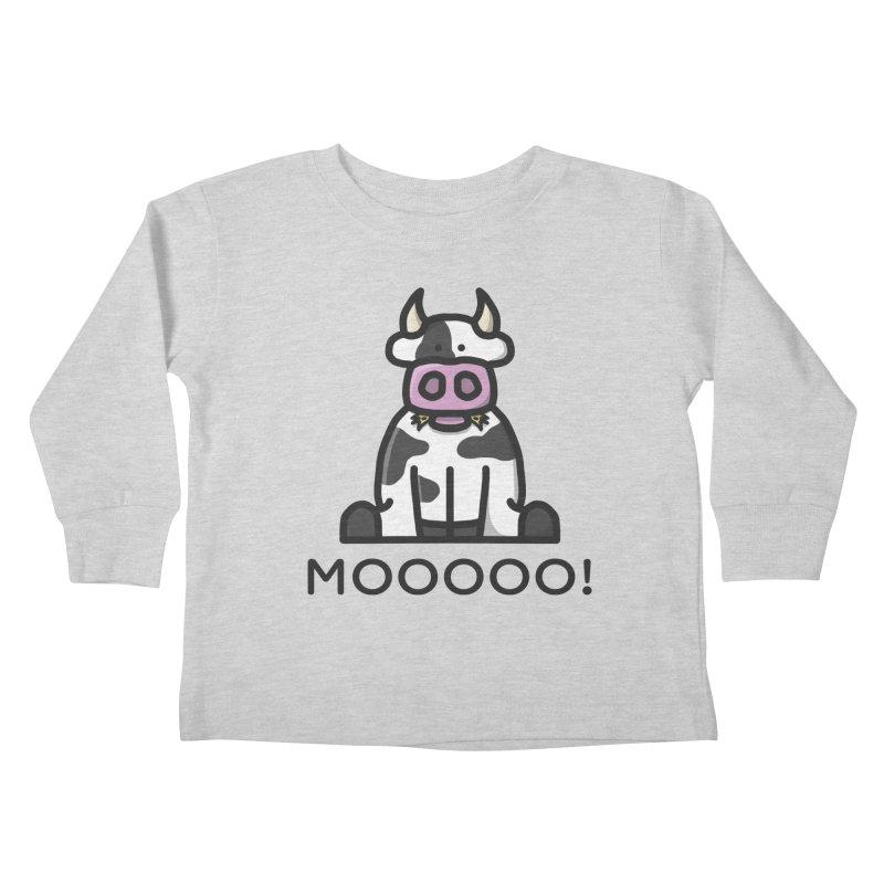 Moooo! Kids Toddler Longsleeve T-Shirt by dylankwok's Artist Shop