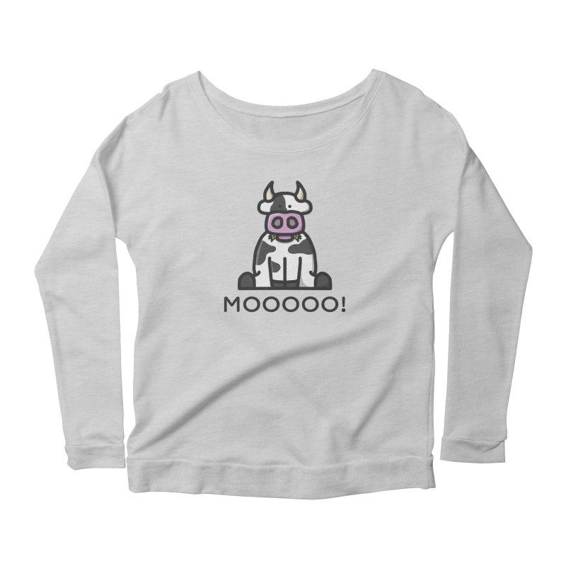Moooo! Women's Longsleeve T-Shirt by dylankwok's Artist Shop
