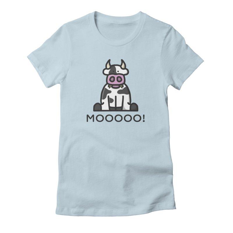 Moooo! Women's T-Shirt by dylankwok's Artist Shop