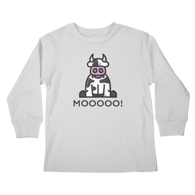 Moooo! Kids Longsleeve T-Shirt by dylankwok's Artist Shop