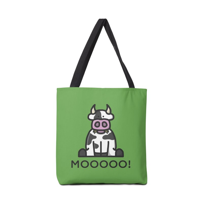 Moooo! Accessories Bag by dylankwok's Artist Shop