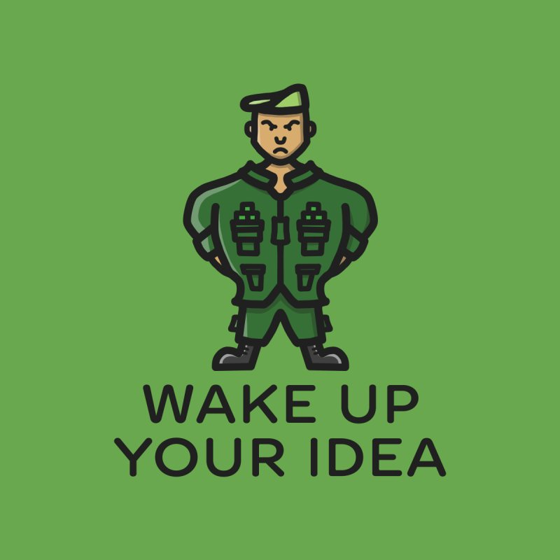 Wake Up Your Idea Men's Sweatshirt by dylankwok's Artist Shop