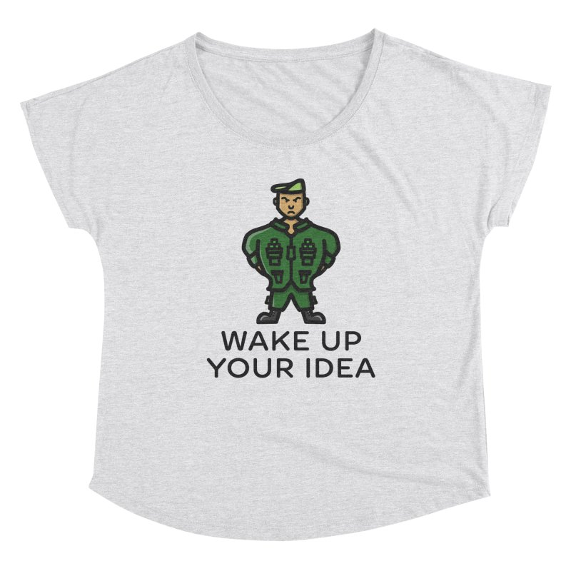 Wake Up Your Idea Women's Scoop Neck by dylankwok's Artist Shop