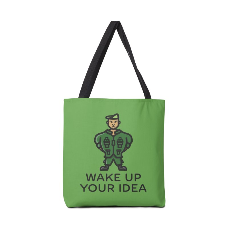 Wake Up Your Idea Accessories Bag by dylankwok's Artist Shop