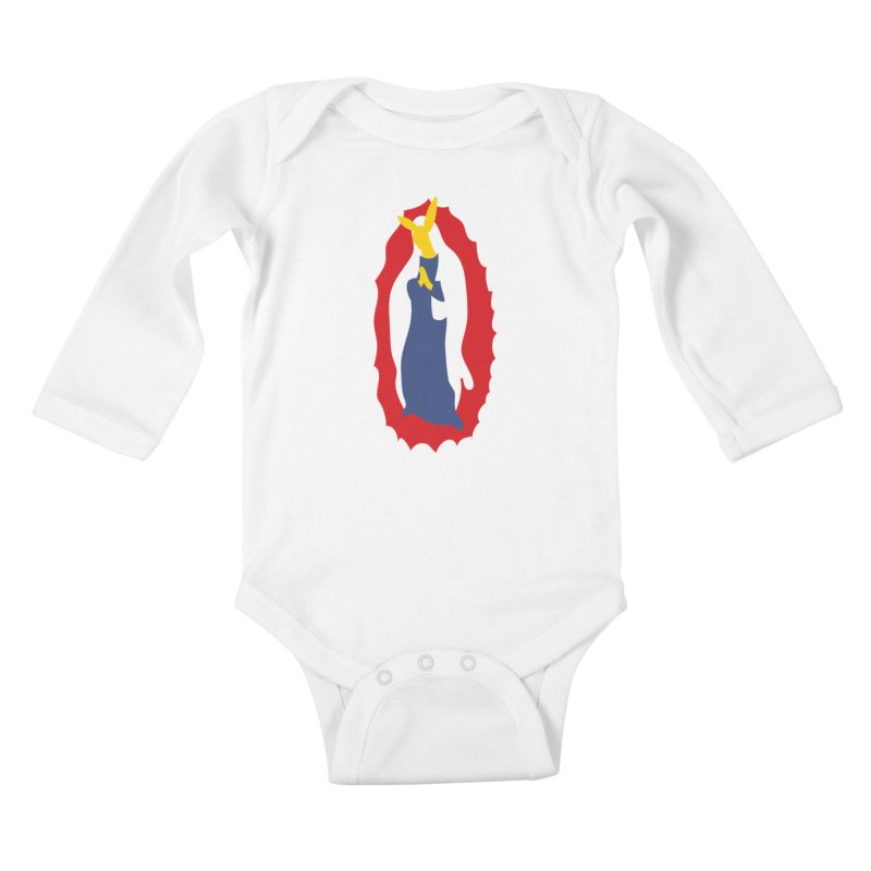 Our Lady Bunnylupe Kids Baby Longsleeve Bodysuit by dylanreed's Artist Shop