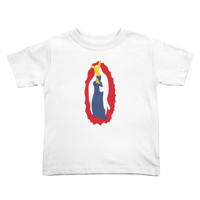 Our Lady Bunnylupe Kids Toddler T-Shirt by dylanreed's Artist Shop