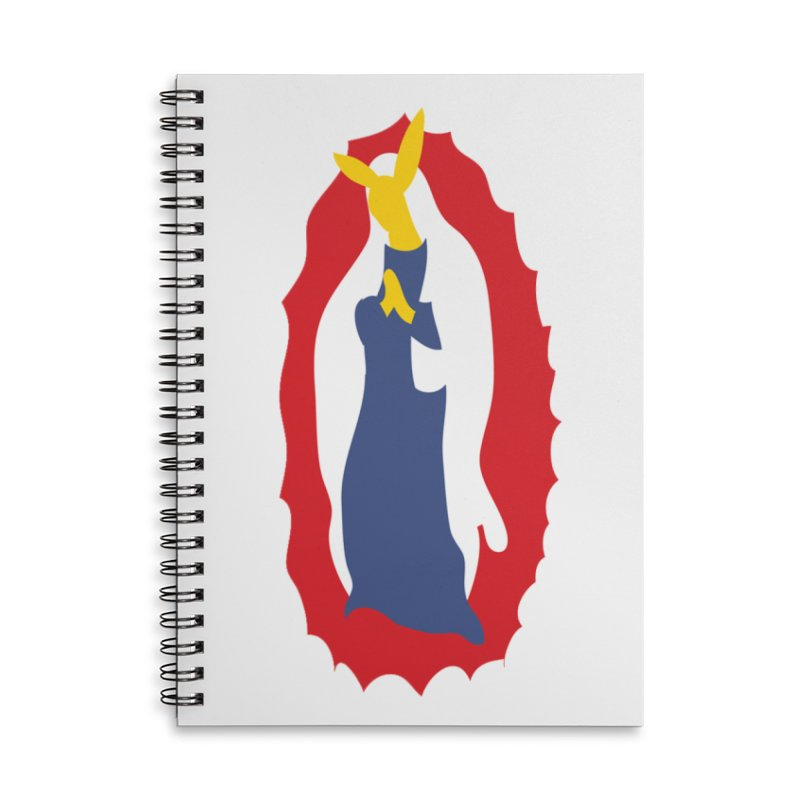 Our Lady Bunnylupe Accessories Lined Spiral Notebook by dylanreed's Artist Shop