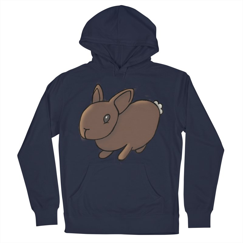 Rabbit Women's French Terry Pullover Hoody by dylanreed's Artist Shop