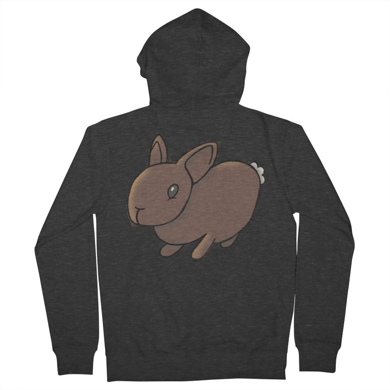 Rabbit Women's French Terry Zip-Up Hoody by dylanreed's Artist Shop