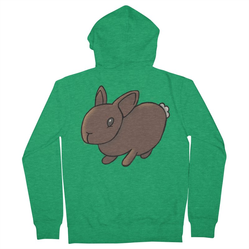 Rabbit Men's French Terry Zip-Up Hoody by dylanreed's Artist Shop