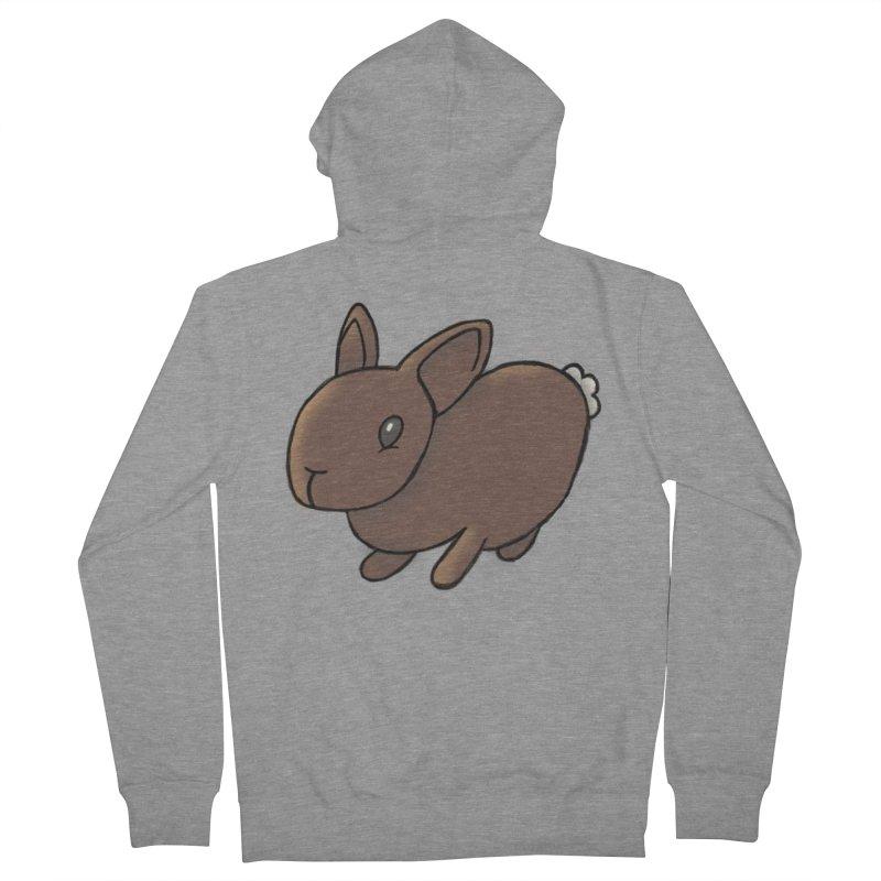 Rabbit Men's Zip-Up Hoody by dylanreed's Artist Shop