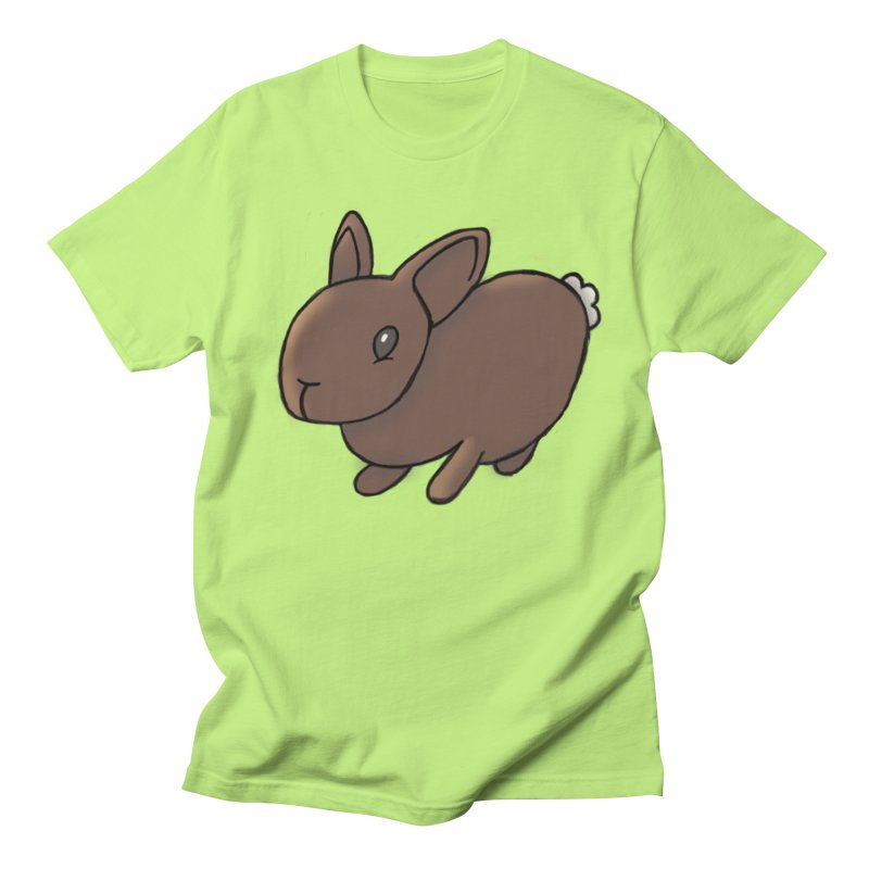 Rabbit in Men's T-Shirt Neon Green by dylanreed's Artist Shop