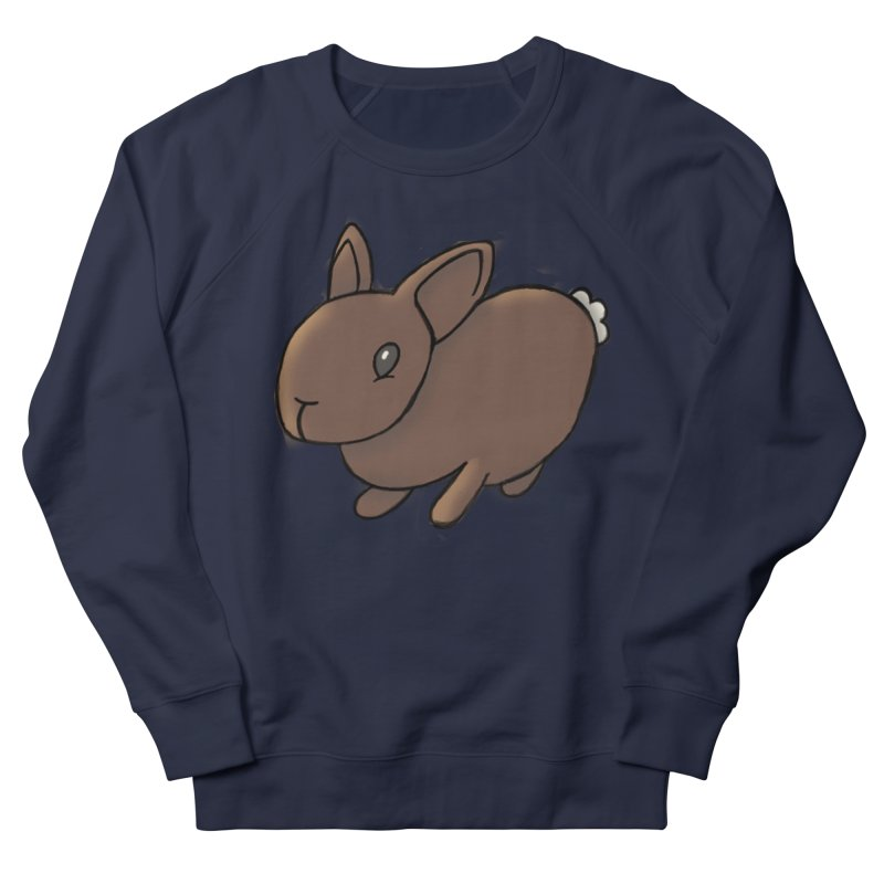 Rabbit Women's French Terry Sweatshirt by dylanreed's Artist Shop