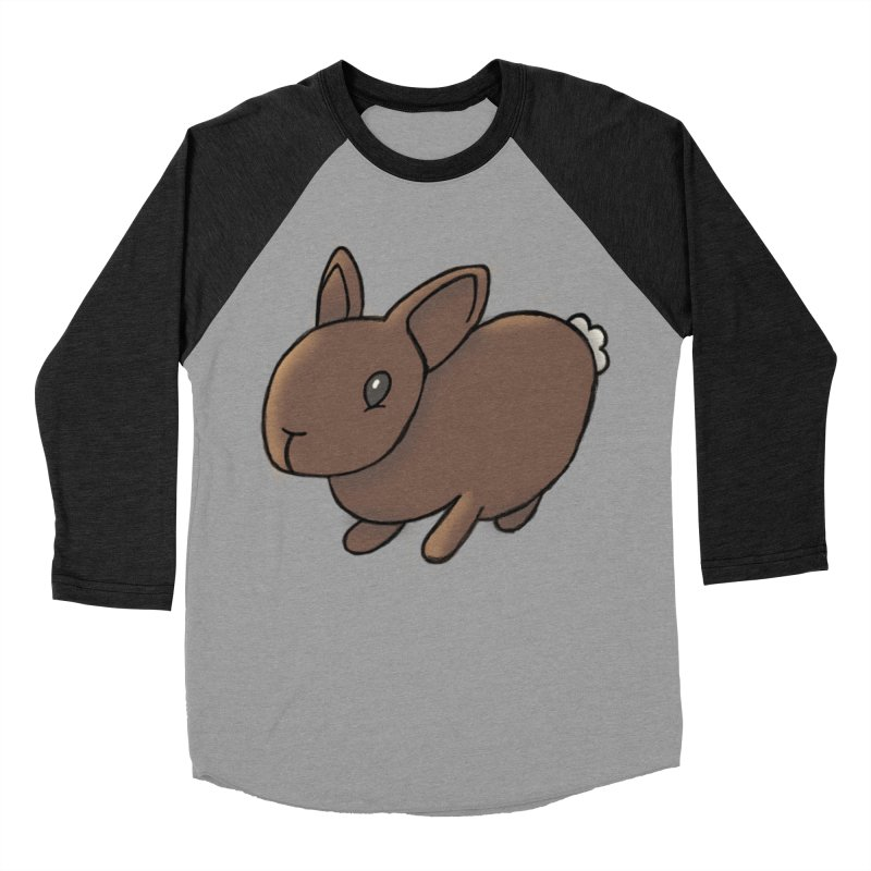 Rabbit Women's Baseball Triblend T-Shirt by dylanreed's Artist Shop