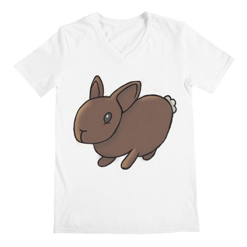 Rabbit Men's Regular V-Neck by dylanreed's Artist Shop
