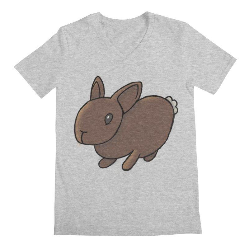 Rabbit Men's V-Neck by dylanreed's Artist Shop